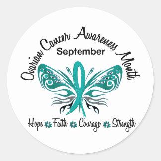 Ovarian Cancer Awareness Month Butterfly 3.2 Sticker