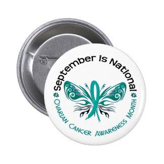 Ovarian Cancer Awareness Month Butterfly 3.3 Pinback Button