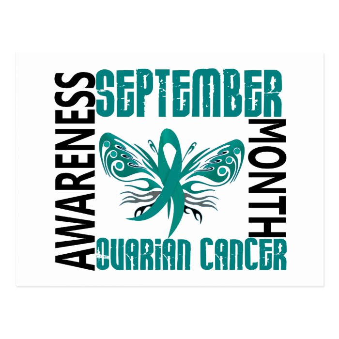 Ovarian Cancer Awareness Month Butterfly 3.4 Postcard