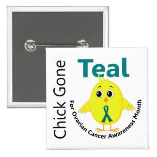 Ovarian Cancer Awareness Month Chick 1 September Button