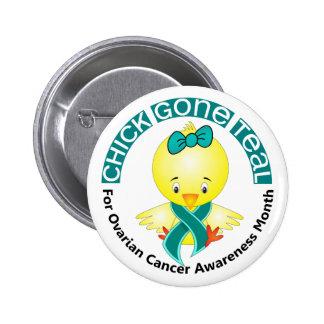 Ovarian Cancer Awareness Month Chick 1 September Buttons