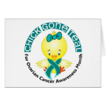 Ovarian Cancer Awareness Month Chick 1 September Greeting Cards