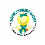 Ovarian Cancer Awareness Month Chick 1 September Postcards
