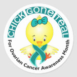 Ovarian Cancer Awareness Month Chick 1 September Stickers