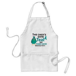 Ovarian Cancer Awareness Month Chick 3 September Apron