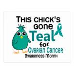 Ovarian Cancer Awareness Month Chick 3 September Postcard