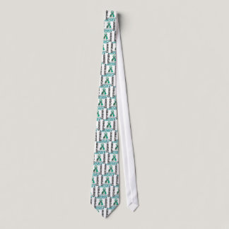 Ovarian Cancer Awareness Month Flower Ribbon 4 Neck Tie