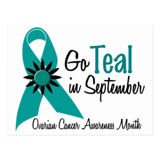 Ovarian Cancer Awareness Month Flowers 2 Postcard