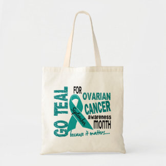 Ovarian Cancer Awareness Month GO TEAL Tote Bag