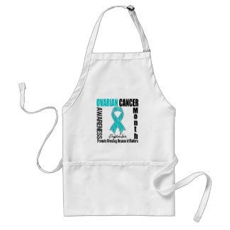 Ovarian Cancer Awareness Month Ribbon Apron