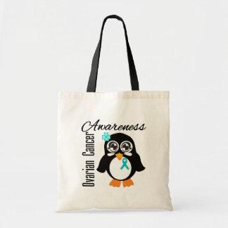 Ovarian Cancer Awareness Penguin Bags