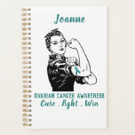 "Ovarian Cancer Awareness planner<br><div class=""desc"">Customize with your name,  year and/or monogram!</div>"
