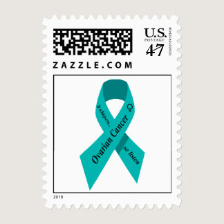 Ovarian cancer awareness postage stamp