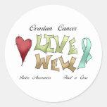 Ovarian Cancer Awareness Round Stickers