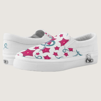 Ovarian Cancer Awareness Slip-On Sneakers