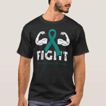 Ovarian Cancer Awareness Support Cancer Warrior Fi T-Shirt