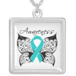 Ovarian Cancer Awareness Tattoo Butterfly Jewelry