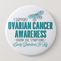 Ovarian Cancer Awareness | Teal Butterfly Button