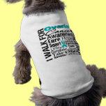 Ovarian Cancer Awareness Walk Doggie Shirt