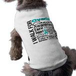 Ovarian Cancer Awareness Walk Doggie T Shirt