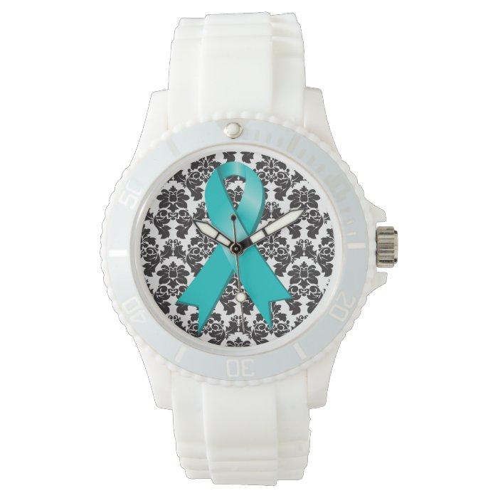 Ovarian Cancer Awareness Wristwatch