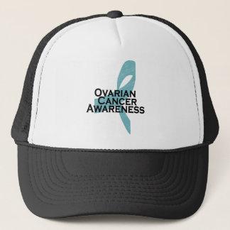ovarian cancer awarness ribbon trucker hat