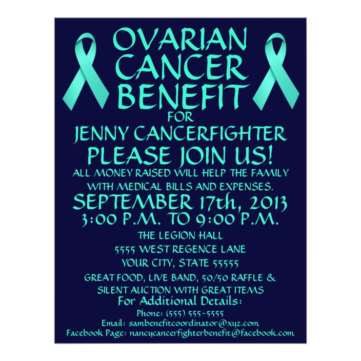 Ovarian Cancer Benefit Flyer Zazzle Com