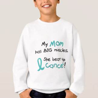 Ovarian Cancer BIG MUSCLES 1.2 Mom Sweatshirt
