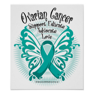 Ovarian Cancer Butterfly 3 Poster