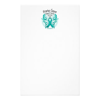 Ovarian Cancer Butterfly 3 Custom Stationery