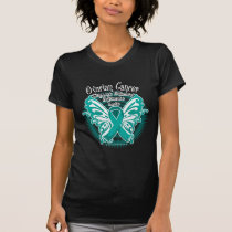 Ovarian Cancer Butterfly 3 T-Shirt