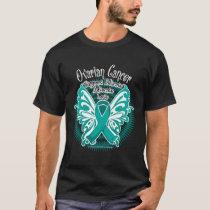 Ovarian Cancer Butterfly 3 T-Shirt
