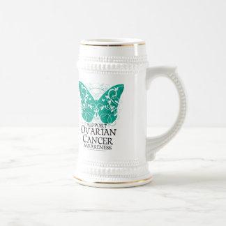 Ovarian Cancer Butterfly Beer Stein