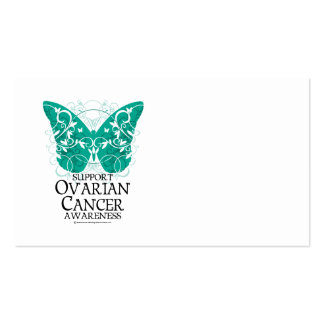 Ovarian Cancer Butterfly Double-Sided Standard Business Cards (Pack Of 100)