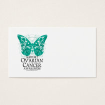 Ovarian Cancer Butterfly Business Card