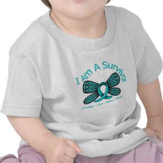 Ovarian Cancer Butterfly I Am A Survivor Tshirt