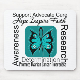 Ovarian Cancer Butterfly Inspirations Mousepads