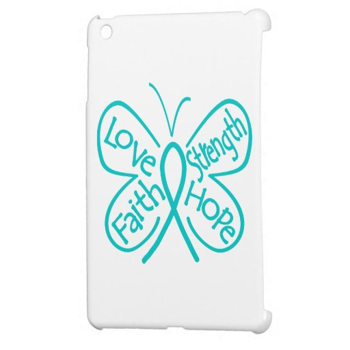 Ovarian Cancer Butterfly Inspiring Words iPad Mini Cases