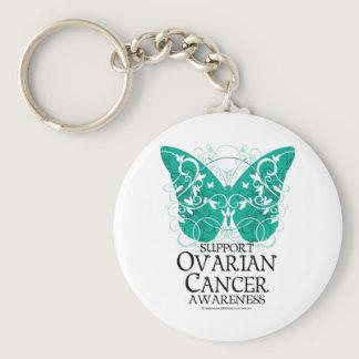 Ovarian Cancer Butterfly Keychain