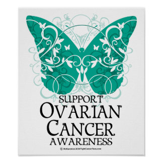 Ovarian Cancer Butterfly Poster