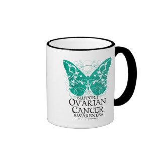 Ovarian Cancer Butterfly Ringer Mug