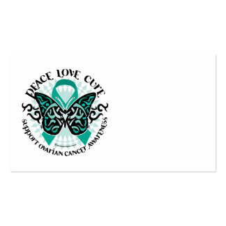 Ovarian Cancer Butterfly Tribal 2 Business Card