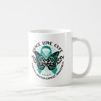 Ovarian Cancer Butterfly Tribal 2 Coffee Mug