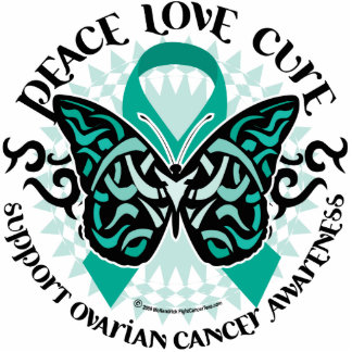 Ovarian Cancer Butterfly Tribal 2 Cutout