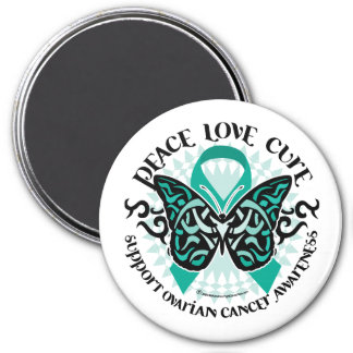 Ovarian Cancer Butterfly Tribal 2 Magnet