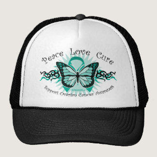 Ovarian Cancer Butterfly Tribal Trucker Hat