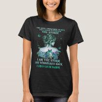 ovarian cancer butterfly warrior i am the storm T-Shirt