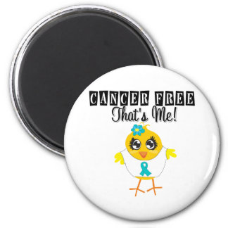 Ovarian Cancer - Cancer Free That's Me 2 Inch Round Magnet