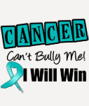Ovarian Cancer Cant Bully Me I Will Win Shirts