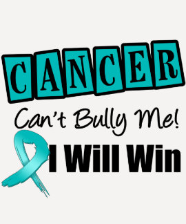 Ovarian Cancer Cant Bully Me I Will Win Tee Shirt